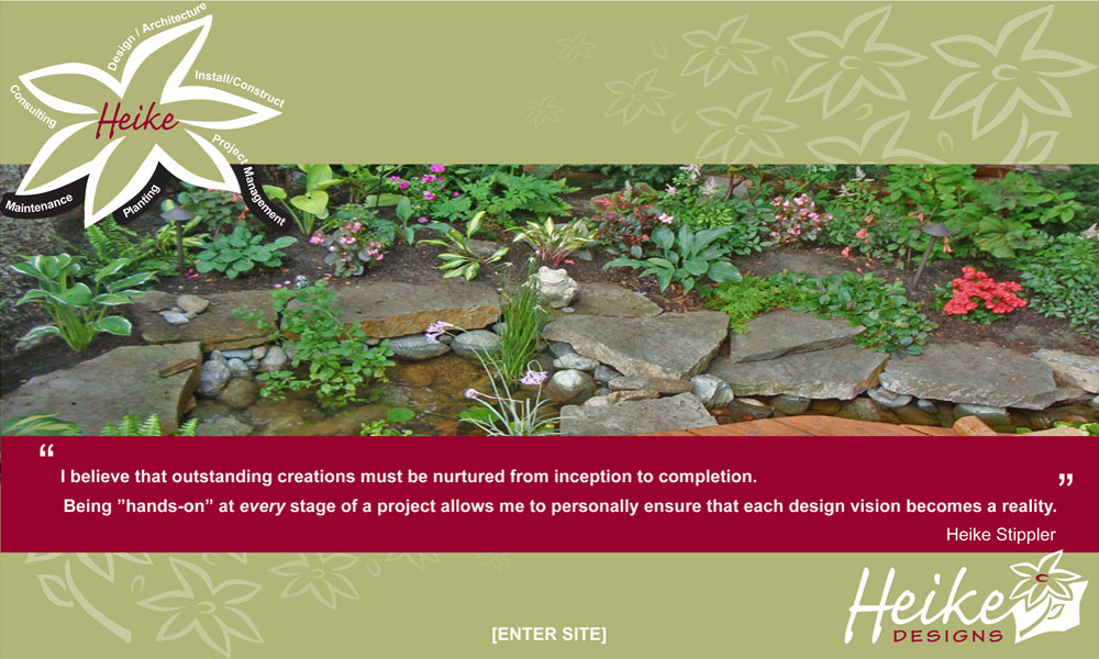 Heike Designs - Landscape, Installation, Planning, Interiors - Click to enter site